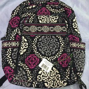Vera Bradley Laptop Backpack Canterberry Magenta